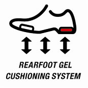 Rearfoot GEL® Cushioning System