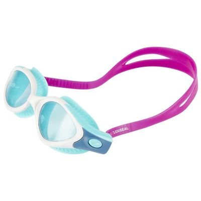 Okularki do pływania Damskie  Speedo Futura Biofuse Flexiseal Diva / White / Peppermint